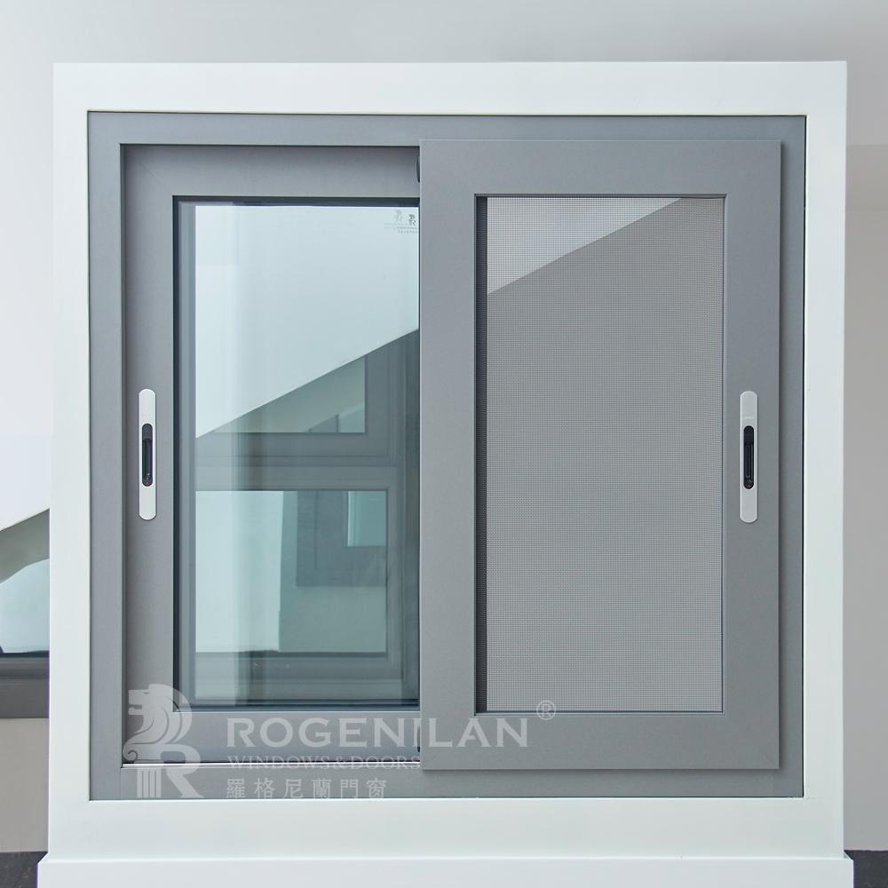 Rogenilan 145 Series Top 10 Window Manufacturers Foshan Factory Aluminum Framed Double Glazed Sliding
