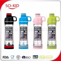 phone storage water bottle iphone drinking bottle compartment