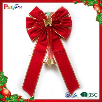wholesale hot sale outdoor red outdoor christmas bow big lots usa christmas decorations