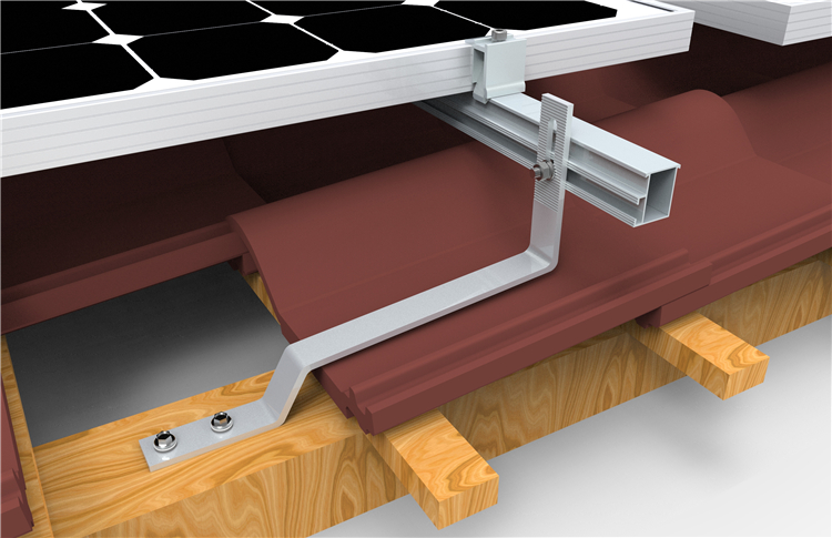 Quick Mount Roman Tile Roof Pv Bracket With As 1170