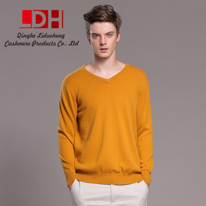 thick warm 2017 New Arrival V Neck Mens Wool Casual Pullover Long Sleeve Cashmere Sweater knitwear
