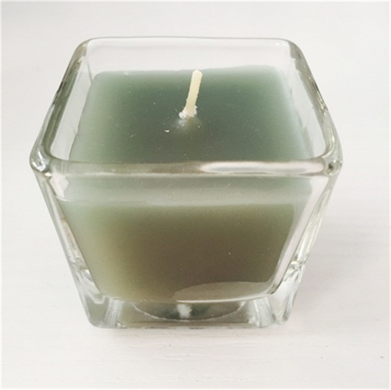 Table Decoration For Praying Mutli Colored Soy Wax Glass Jar Candle