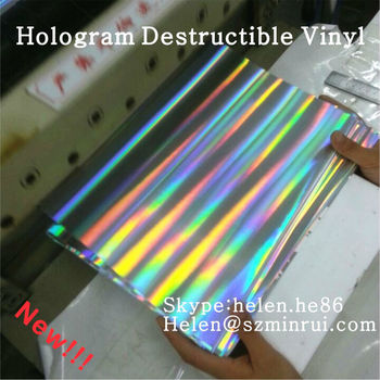 High Security Holographic Self Adhesive Fragile Sticker