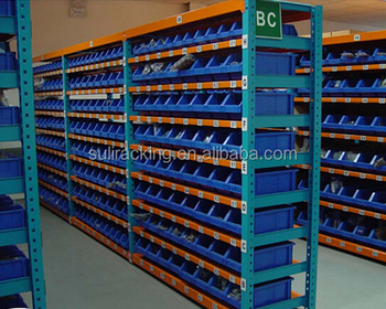 Small Parts Storage Warehouse Shelving Bins
