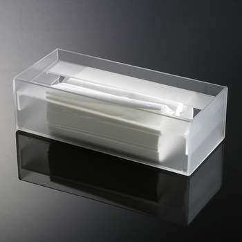 Black Acrylic Tissue Holder Lucite Napkin Storage Box
