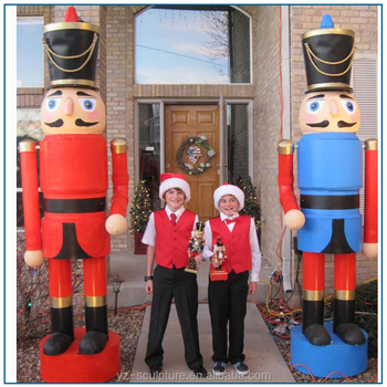 christmas decoration large size fiberglass soldier nutcracker statue for sale - Large Toy Soldier Christmas Decoration