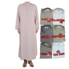 hot sale middle Qatar man Polyester cotton abaya
