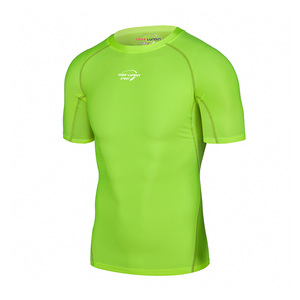 Promotional Hight Quality Fitfluorescent Color Running Sportswear Mens Blank Fitted T Shirt