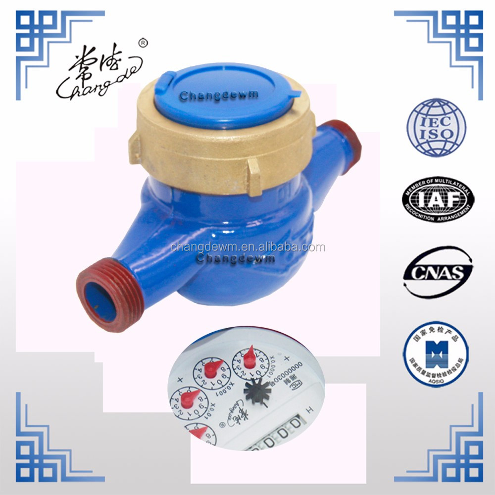 Hot sale Multi jet 15mm-20mm water meter for magnetic drive 1/2inch