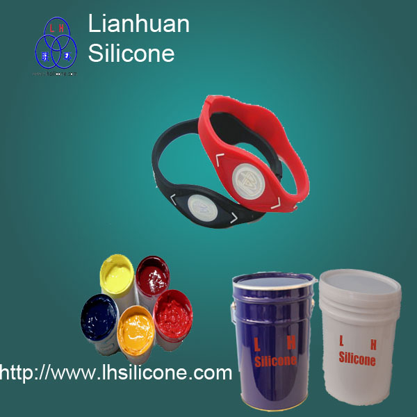 durable high-quality silicone ink for printing fitness sport silicone bracelet