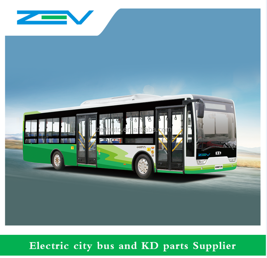 ZEV Z10 10 meters Electric bus zero emission car China supplier GPS service