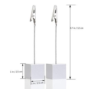 Table Number Card Holders Photo Holder Stands Place Paper Menu Clips