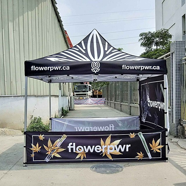 Free design <strong>trade</strong> show cheap custom printed folding tent 5x5
