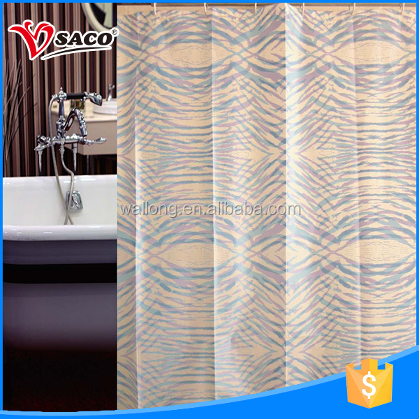 PVC good transparency bath shower windows curtain with low price