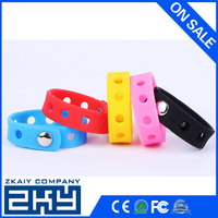 ZKY - Lot Silicone Bracelets Wristband Adjustable Snaps Fit for Shoe Charms Buckle