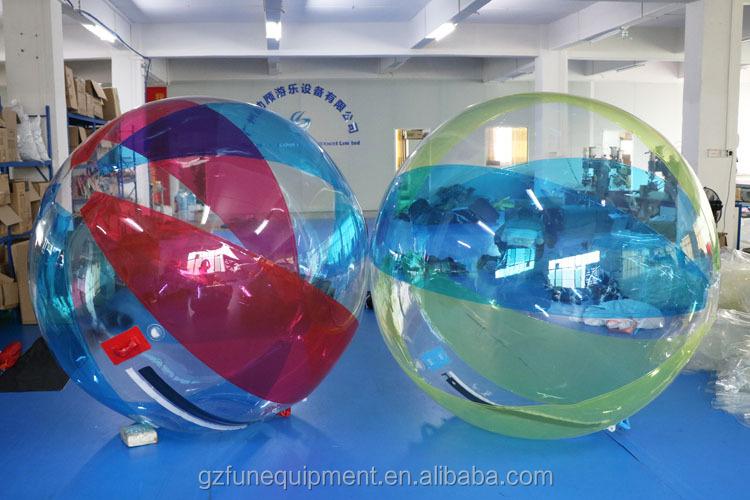 water zorbing in an inflatable pool fun water sprinkler