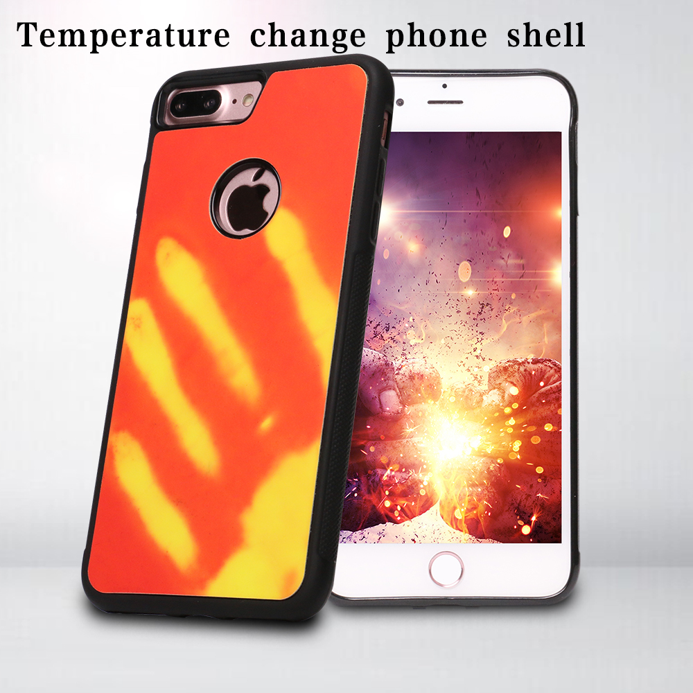 2017 Fashion Temperature Sensing Color Changing Thermal induction phone case for iPhone 6s plus