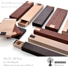 HONGDAO custom cheap wooden pencil box with logo sliding lid pencil box