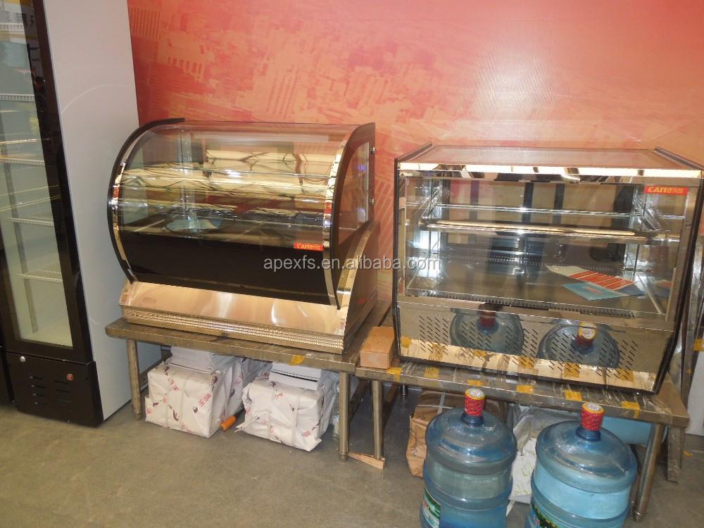 Mini Kühlschrank Für Kuchen : Gebogene glastür arbeitsplatte mini kuchen display schaufenster