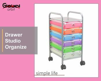 6 Drawer Rolling Storage Cart Storage Paper Office School Organizer Colorful