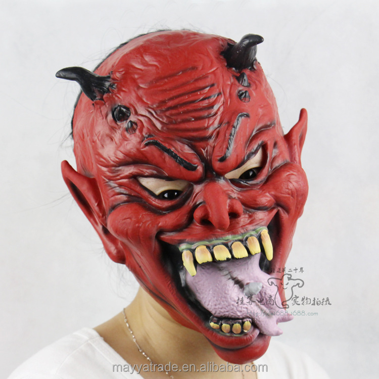 Alibaba Hotselling Devil Masks Halloween Outfit Horror Masks Party Mask