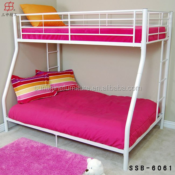 Cheap Modern Antirust Metal Twin Over Full Bunk Beds Malaysia Red