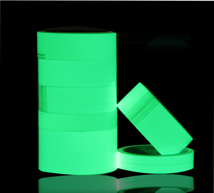 50mm x 5m Super Bright Green Luminous Photoluminescent Warming Arrow Zebra Tape Glow In The Dark Stage Home Decoration Tape