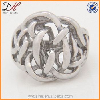 Daihe 2017 Nest Hollow Stainless Steel Knot Ring