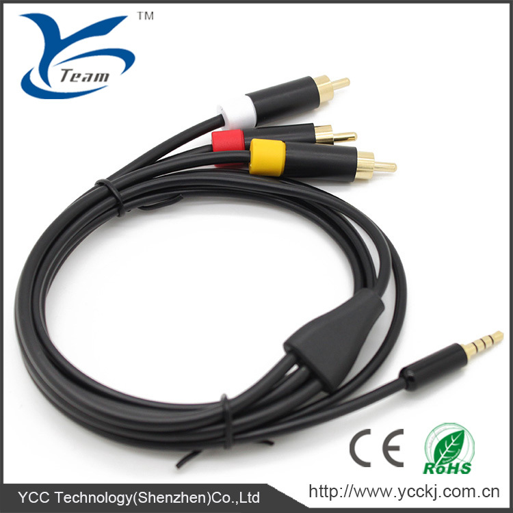 Wholesale A/V Cable for XBOX 360 Elite Cable for XBOX 360E Composite AV Cable for XBOX