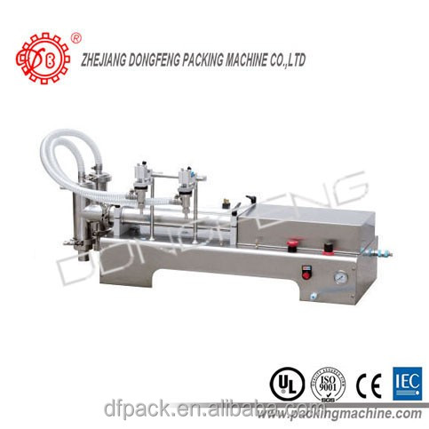 2016 double nozzles stainless steel semi-automatic beverage/shampoo/perfume/liquid filling machinery-DLF300