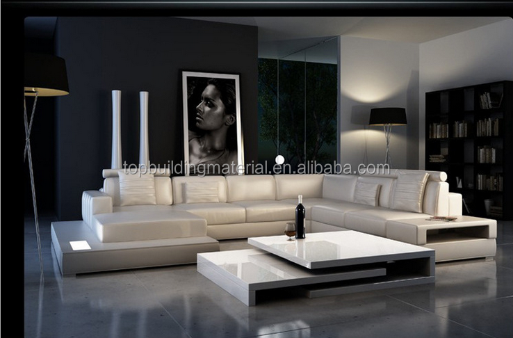 Contemporary sofa set lounge furniture leather sofa set