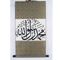 Plastic wall hanging scrolling polyester roll banner
