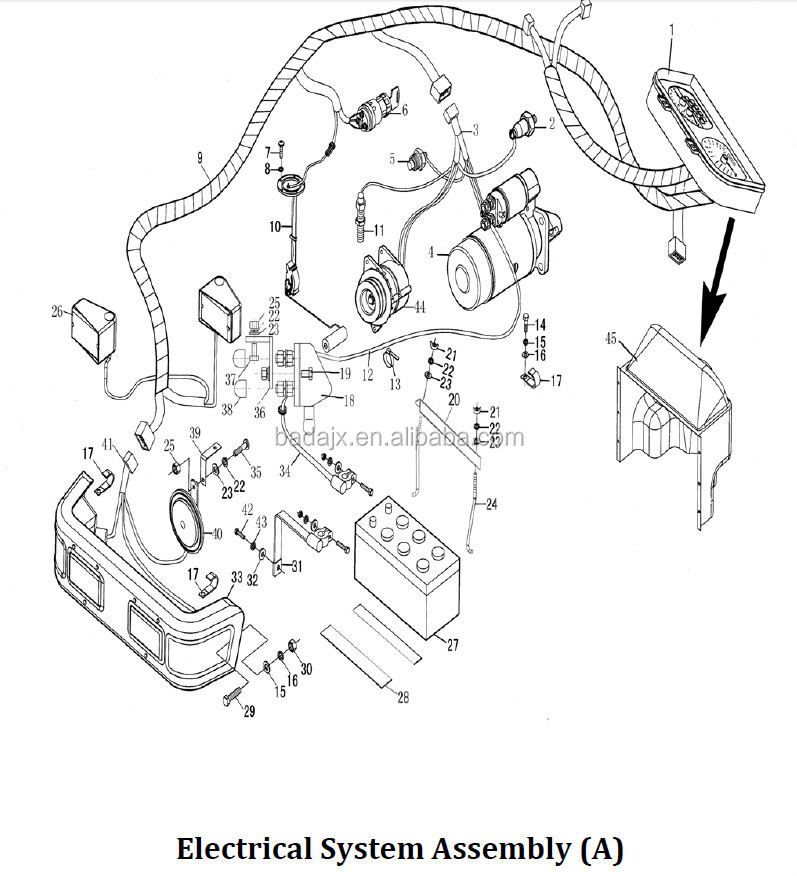 Supply Jinma 450 454 Tractor Spare Parts Electrical System