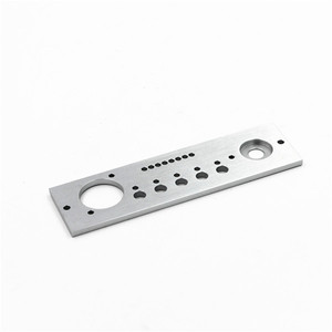 precise customized cnc aluminium plate 10 mm for front panel amplifier