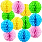 Colorful Decorative Tissue Paper Honeycomb Balls for Party Supplies