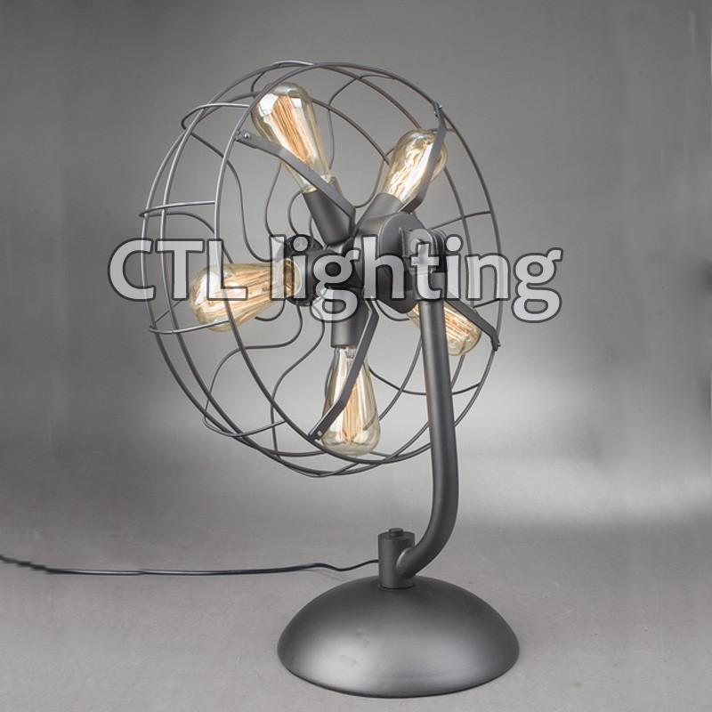 Ventilateur Forme Vintage Ampoule Edison En E27 De Lampe Bureau hBrdosQxtC
