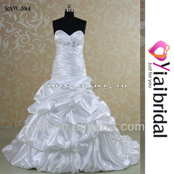 Rsw384 Sweetheart Neckline Ruched Ruffle Wedding Dress Patterns