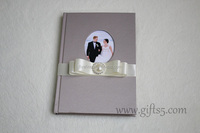 Personalized wedding guest book wiht photo frame