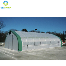 Small hydroponic plastic film tunnel greenhouse for mushroom and tomato