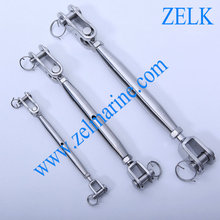 Stainless Steel Fork and Toggle Closed Body Turnbuckle - Eye Style