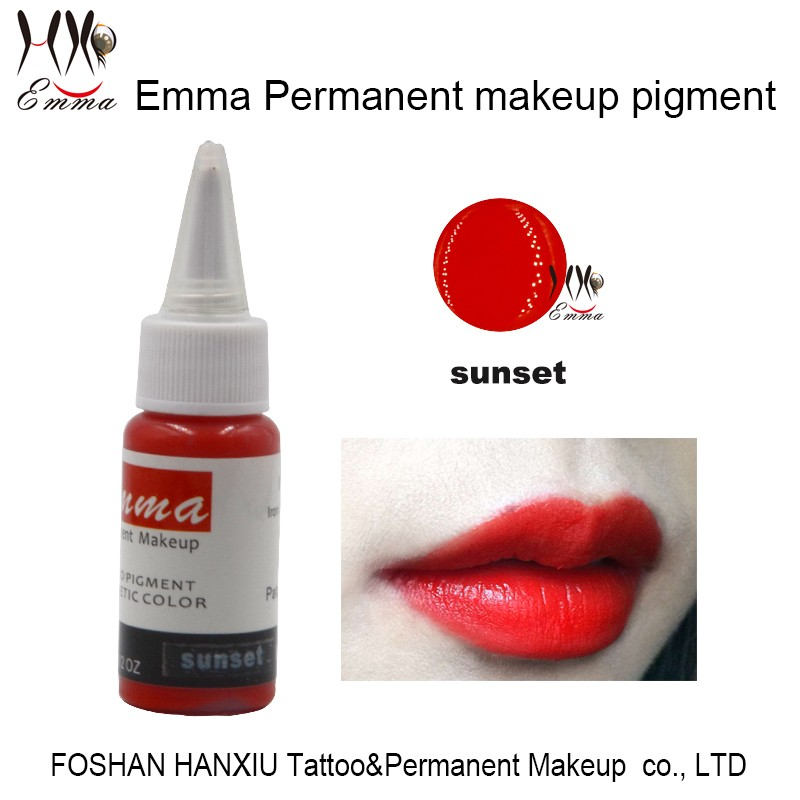 Derma Test Approval For Emma Permanent Makeup Pigment Lips Red ...