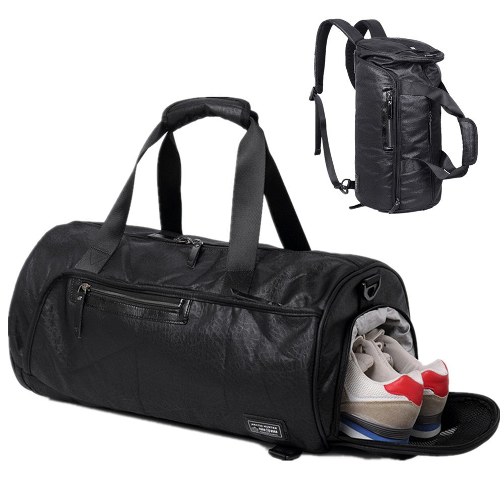 3-Way Sports Gym Bag Travel Duffel Backpack for Women and Men Overnight Travel Tote Bag with Shoe Compartment