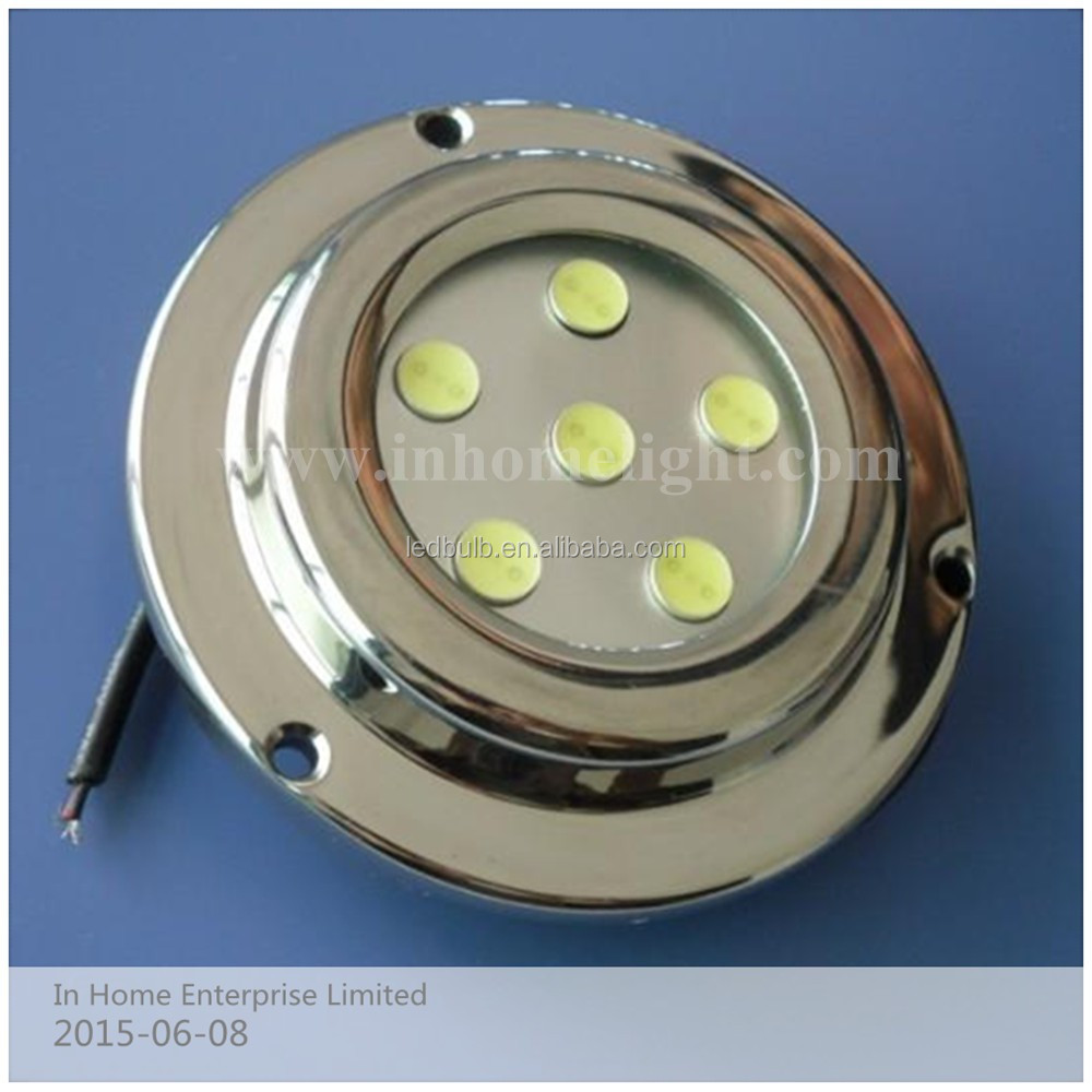 Hot sale 6*1W IP68 led underwater yacht light/led marine light aquarium led yacht light