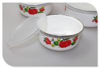 Chinese Enamel Storage Bowl,Enamel Coated White Metal Ice Bowls ...