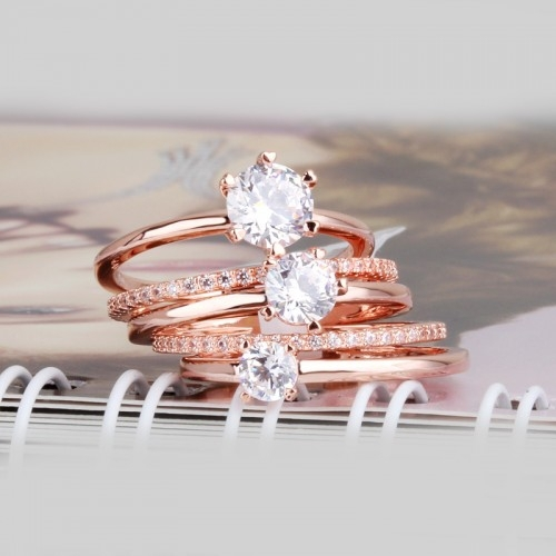 New Wear 5 Pcs Rings To One Plated 18kgp Gold 2 Gram Gold Ring