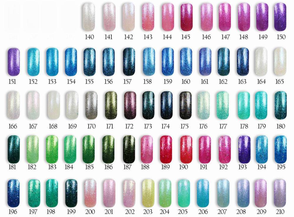 12pcs Florales Diamond glitter UV Gel Nail polish 15ml 120 colors for choice