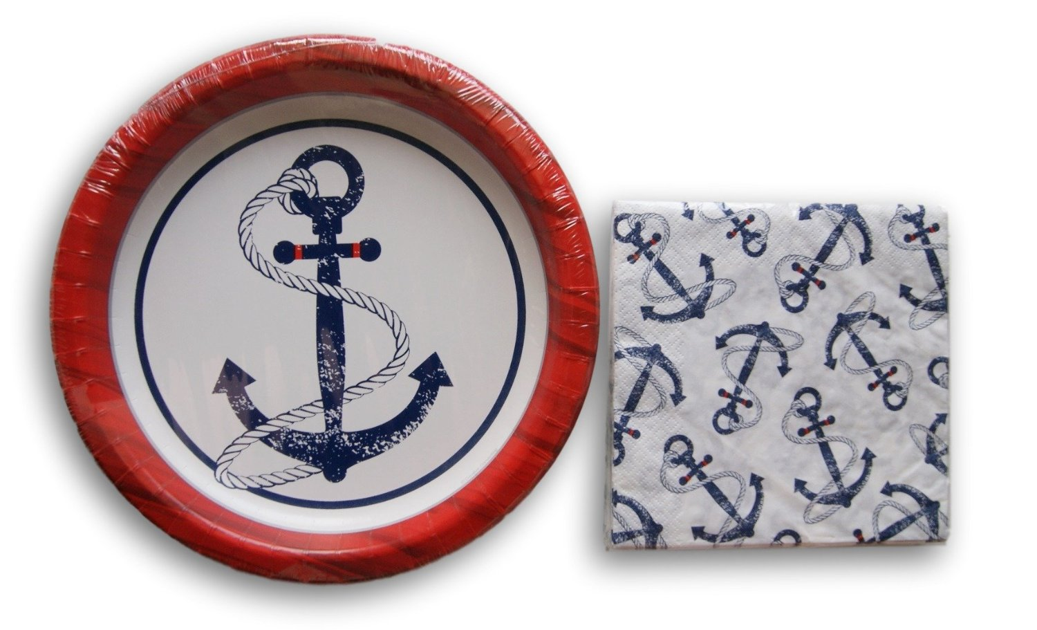 Buy Nautical Anchor Themed Party Supply Kit Napkins And