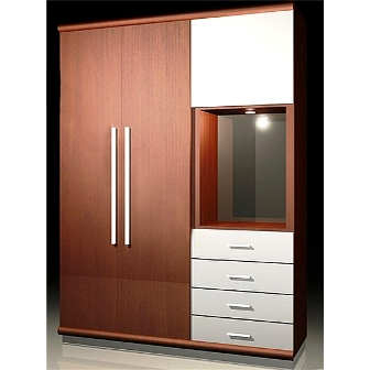 New Design Mfc Carpenter Wardrobe Vietnam Storage Solution For Sales