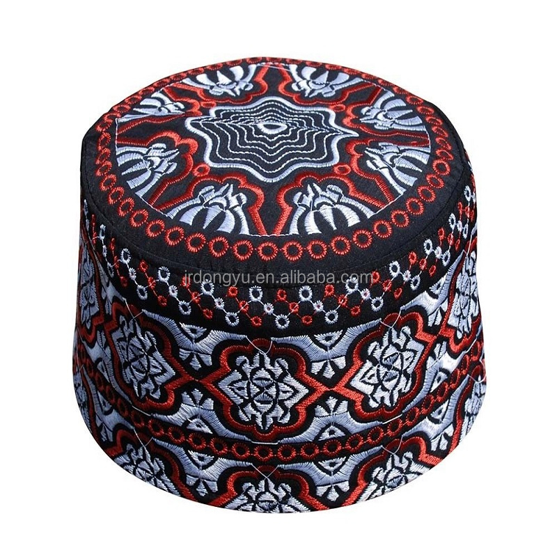 wholesale mens islamic hand made embroidered Omani caps