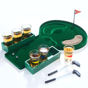 Adults drink party fun play table golf drinking game